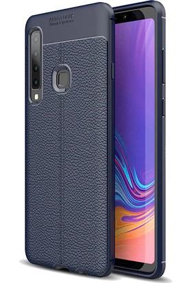 KNY Samsung Galaxy A9 2018 Kılıf Deri Desenli Lux Niss Silikon + Cam Ekran Koruyucu