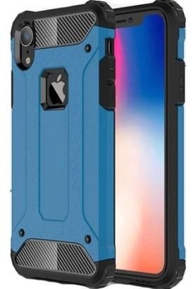 """Alaca iPhone XR 6.1"""" Kılıf Zırhlı Sert Rubber Kılıf"""