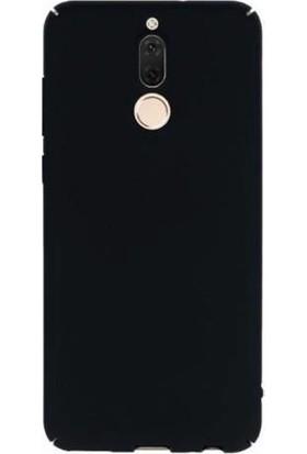 Alaca Huawei Mate 10 Lite Slim Fit Kılıf (Mat Kadife Dokulu Fit Slim Rubber) + Cam