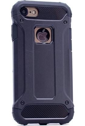 Ehr. Apple iPhone 6 & 6S Kılıf Ultra Lüx Çift Katmanlı Darbe Emici Crash Kılıf + Nano Koruyucu Cam