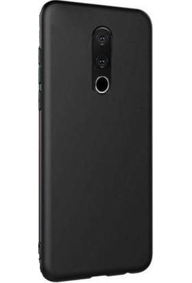 Kılıfist Meizu 16th Kılıf Premier Mat Esnek Silikon Kılıf Arka Kapak Siyah