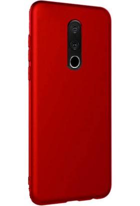 Kılıfist Meizu 16th Kılıf Premier Mat Esnek Silikon Kılıf Arka Kapak Kırmızı