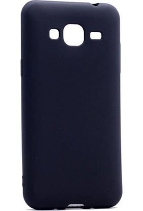 Kılıfist Samsung Galaxy J3 Pro 2016 J3110 Premium Kılıf Mat Silikon Kılıf Slim Fit + Cam Siyah