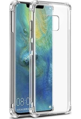 Kılıfist Huawei Mate 20 Pro Darbe Korumalı Silikon Kılıf Şeffaf Antişok Kapak