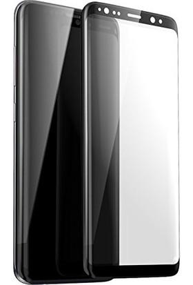 AkseStore Samsung Galaxy S9 Plus Tam Yapışan 5D Full Cover Ekran Koruyucu Cam Siyah