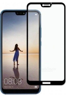 Telefonborsası Telbor Huawei P20 Lite 5D Tam Koruyucu Cam Siyah