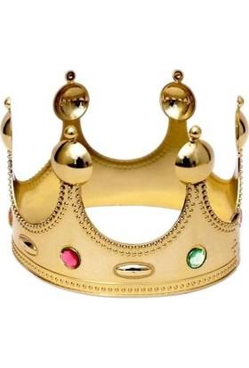 PartiniSeç 1 Adet Altın Gold Kral Tacı Erkek Parti Malzemesi