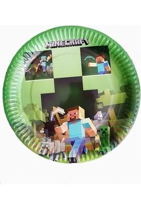 PartiniSeç 8 Adet Minecraft Konsept Tabak Doğum Günü Parti Tabağı
