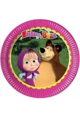 PartiniSeç Maşa İle Koca Ayı 8li Tabak 23cm Doğum Günü Parti Masha and Bear