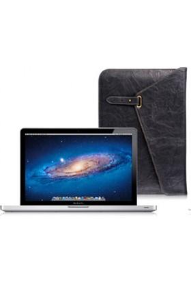 """LUXA2 Metropolitan 13"""" MacBook Pro İnce Deri Zarf Kılıf - Siyah (LX-LHA0056-A)"""