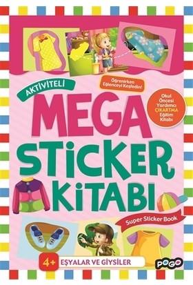 Aktiviteli Mega Sticker Kitabı - Eşyalar ve Giysiler