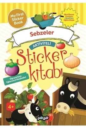 Aktiviteli Sticker Kitabı - Sebzeler