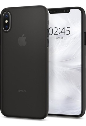 Spigen Apple iPhone XS / iPhone X Kılıf Air Skin (0.3 mm) Ultra İnce Black - 063CS24910