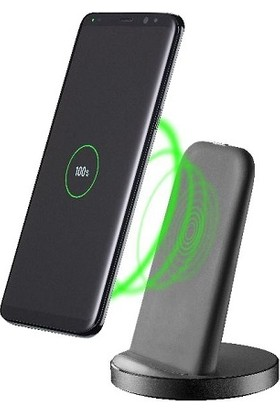 Cellularline Adaptif Ayaklı Kablosuz Şarj Standı - Siyah