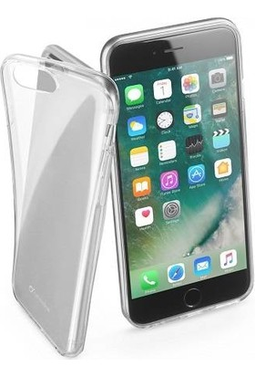 Cellularline iPhone 7/8 Fine Parlak Kauçuk Kılıf Şeffaf