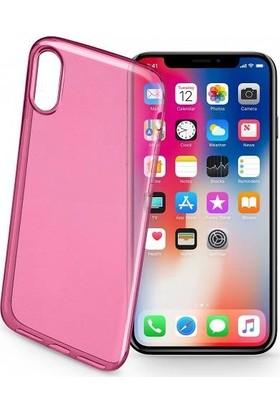 Cellularline iPhone X/XS Color UltraSlim Şeffaf Kılıf - Pembe