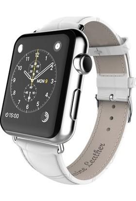 Booyse Apple Watch 2-3-4 Serisi Uyumlu Deri Kayış Saat Kordon - 42-44Mm