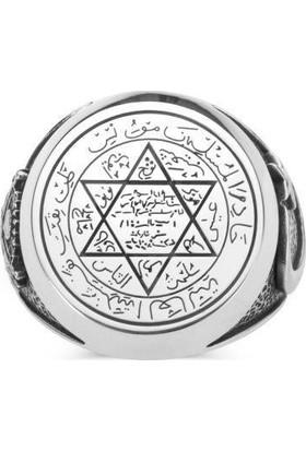 Takıhan 925 Ayar Gümüş Mührü Süleyman Yüzüğü Devlet Arması
