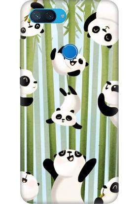 Cekuonline Xiaomi Mi 8-Lite Desenli Esnek Silikon Telefon Kapak Kılıf - Panda Game
