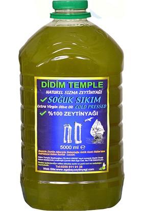 Didim Temple Soğuk Sıkım Erken Hasat Zeytinyağı 5 lt