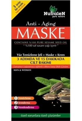 Nutralen Anti Aging Yüz Temizleme Jeli + Maske + Krem