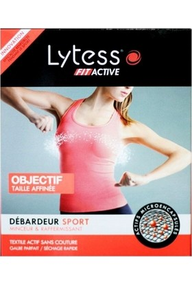 Lytess Fit Active Debardeur Sport - Şekillendirici Spor Body (S-M) Black - Siyah