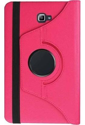 Casestore Samsung Galaxy Tab 4 T230 Tam Koruma 360 Dönebilen Standlı Tablet Kılıfı - Pembe