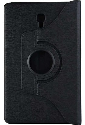 Casestore Samsung Galaxy Tab A T350 Tam Koruma 360 Dönebilen Standlı Tablet Kılıfı + Ekran Koruyucu Cam - Siyah