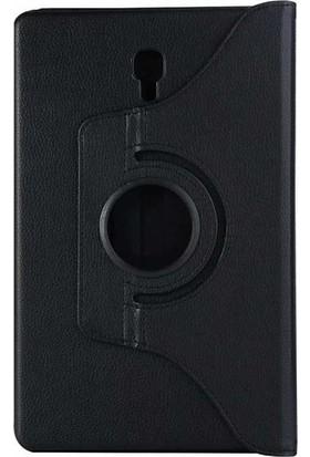 """Casestore Samsung Galaxy Tab E T560 9.6"""" Tam Koruma 360 Dönebilen Standlı Tablet Kılıfı + Ekran Koruyucu Cam - Siyah"""