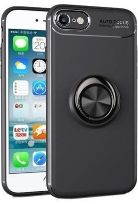 Casestore iPhone 7 Kılıf Ultra Lüx Araç İçi Mıknatıslı Yüzüklü Kılıf - Siyah
