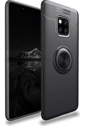 Casestore Huawei Mate 20 Pro Kılıf Ultra Lüx Araç İçi Mıknatıslı Yüzüklü Kılıf - Siyah