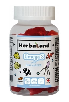 Herbaland Kids Omega 3 with DHA and EPA 60 Adet