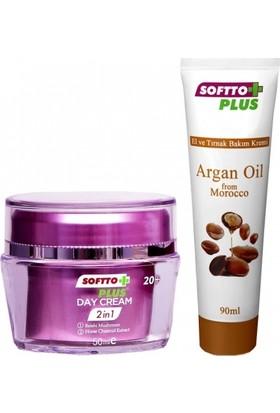 Softto Plus 2 in 1 Yüz Kremi 50 ml El Kremi 90 ml
