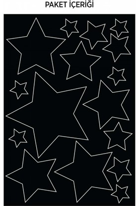 Artikel Yıldızlar Araç Sticker 21 x 29 Cm