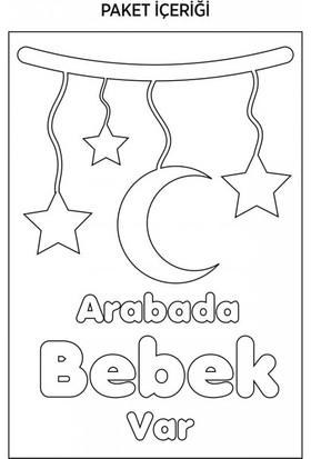 Artikel Arabada Bebek Var-2 Araç Sticker 21 x 29 Cm