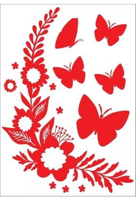 Artikel Kelebekler - 2 Klozet Sticker