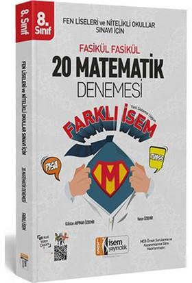 İsem 2019 Lgs Farklı İsem 8. Sınıf Matematik 20 Deneme