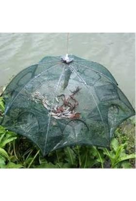 Pi İthalat Balık Tuzağı 6 Girişli Yengeç Balık Kuş Yakalama Pratik Kullanım - Büyük Boy