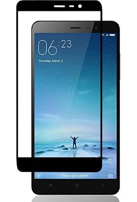Microcase Xiaomi Redmi Note 3 Tam Kaplayan Çerçeveli Tempered Ekran Koruyucu - Siyah