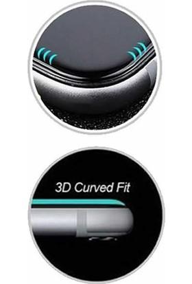 Microcase Samsung Galaxy A6 Plus 2018 3D Kavisli Tempered Cam Koruma - Siyah