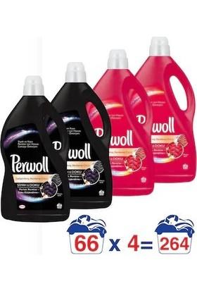 Perwoll Siyah (2 adet) 4Lt+ Canlı Renkler (2 adet) 4Lt (2+2)