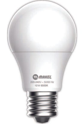 MAKEL 12W LED AMPUL 6500K MAKEL BEYAZ IŞIK