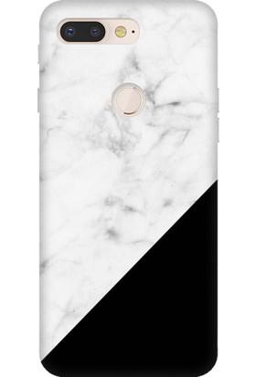 Cekuonline General Mobile GM 9 Pro Desenli Esnek Silikon Telefon Kapak Kılıf - Siyah Beyaz Mermer