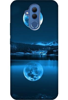 Cekuonline Huawei Mate 20 Lite Desenli Esnek Silikon Telefon Kapak Kılıf - Dolunay Deniz