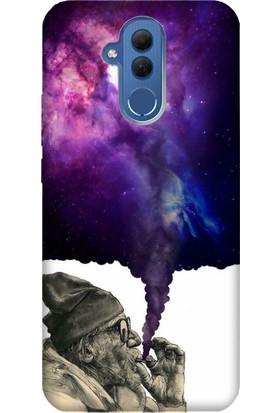 Cekuonline Huawei Mate 20 Lite Desenli Esnek Silikon Telefon Kapak Kılıf - Smoke