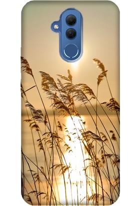 Cekuonline Huawei Mate 20 Lite Desenli Esnek Silikon Telefon Kapak Kılıf - GünBatımı 90