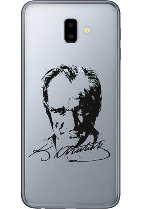 Cekuonline Samsung Galaxy J6+ Plus Desenli Esnek Silikon Telefon Kapak Kılıf - Atatürk