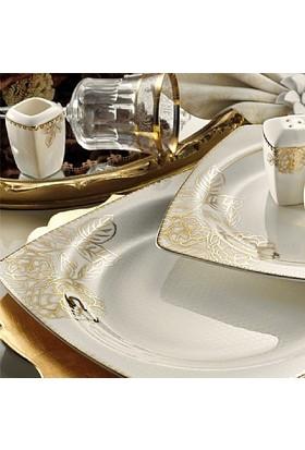 Kütahya Porselen Bone Mare 62 Parça 9679 Desenli Yemek Takımı