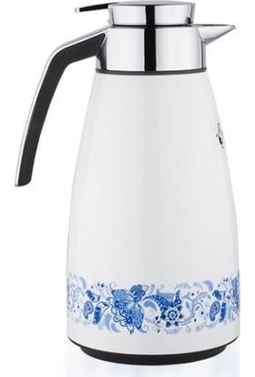 Penguen PNG 3007 Çiçek Desenli içi cam Çay Termos 1.6 Litre
