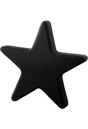 Kralkulp Yıldız Kulp Modeli, Bebek Ve Çocuk Odası Kulp 6 Adet Siyah